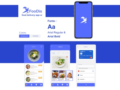 FooDis foodapp food illustration application ux graphic design app design ui logo design app