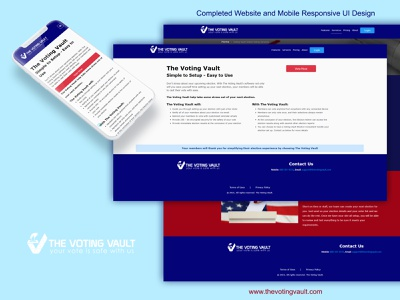 The Voting Vault ios ios app design branding brand design website ui design application ux logo graphic design app design ui design app