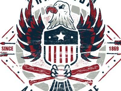 Tradition apparel custom graphic design shield america eagle badge design