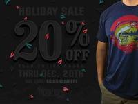 Holiday Sale!! sale black friday christmas colorado fish headwear t-shirt clothing apparel discount holiday sale