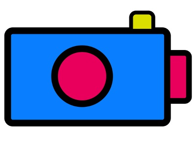 Camera icon for a photo editorial logo flat black full line outline isolated snapshot app photographer set vector photo icon camera