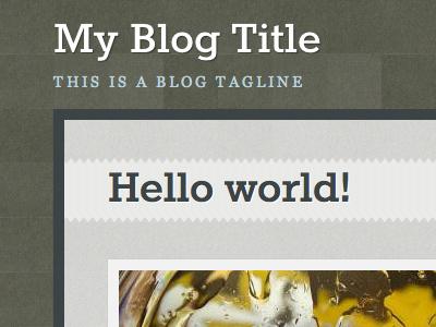 Blog Corner wordpress blog theme