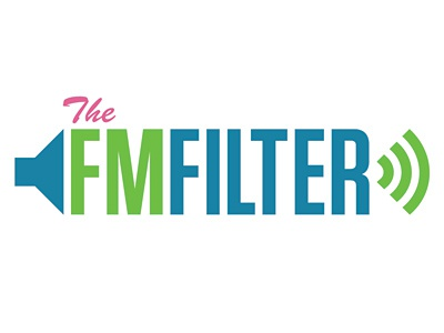 FM Filter Logo logo green blue pink music