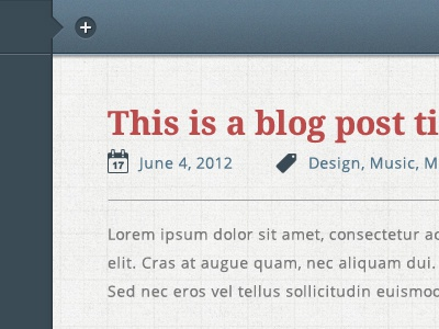 New Blog Theme blog texture navy red