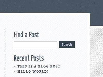 Sidebar wordpress blog sidebar navy texture