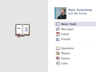 The Open Book facebook icons book