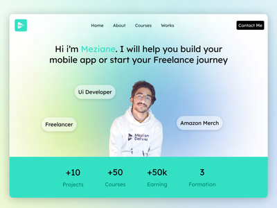 Freelancer Portfolio ui  ux resume blur bakground developer freelance branding jobs portfolio ui