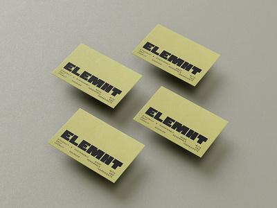 BUSINESS CARD for ELEMNT logo business card branding illustrator photoshop inspiration design graphic design cosmetic