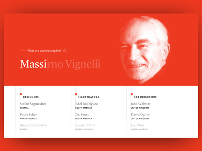 Full Screen Search Results full image results screen full grid vignelli massimo ux ui list menu search
