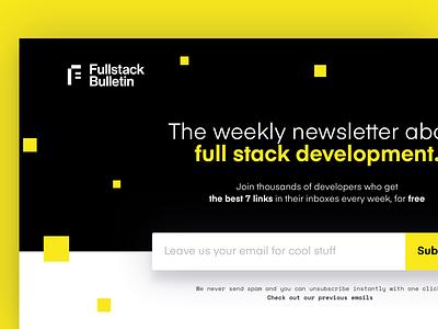 Fullstack Bulletin Landing Page typography design fullstack page landing wip