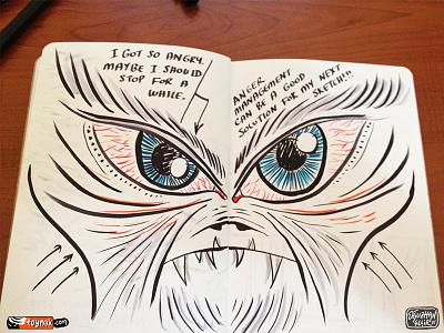 Angry Eyes eye sketchbook sketch copic moleskine cartoon doodle