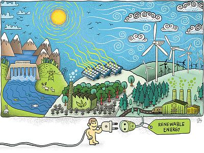Renewable energy toynak london green cartoon solar recycle forest tree windmill nature energy renewableenergy