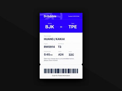 Daily UI-Day024-Boarding Pass flight ticket blue pass boarding day024 ui daily