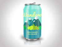Wanderer beer can design