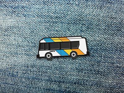 Represent! georgia vehicle transportation icon illustration enamel pin atlanta marta bus transit