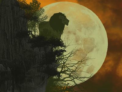 The King of lion... Landscape graphic design vector illustration illustration adobe photoshop vector art abstract adobe illustrator
