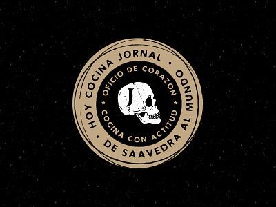 JORNAL typography noir black dark skull badge logo branding handdrawn illustration blackandwhite
