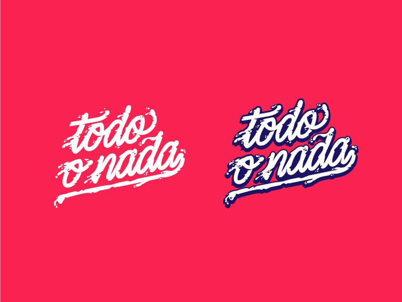 Todo o Nada logo motion liquid paint lettering script logo