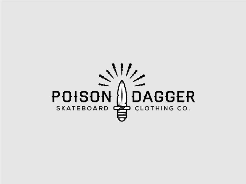 PoisonDagger school old venom skateboard brand skate clothing dagger poison