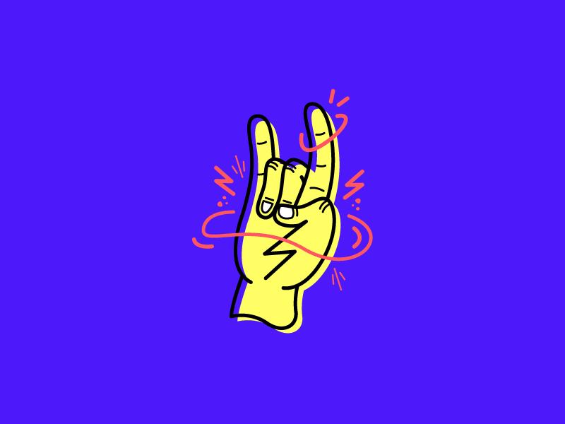 Rocknrolla motion dynamic hand metal roll n rock