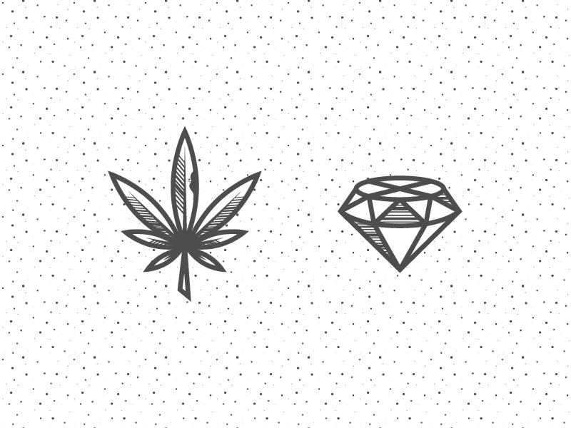 Hiphop 01 hip hop leaf weed diamond pot marihuana line icon pattern