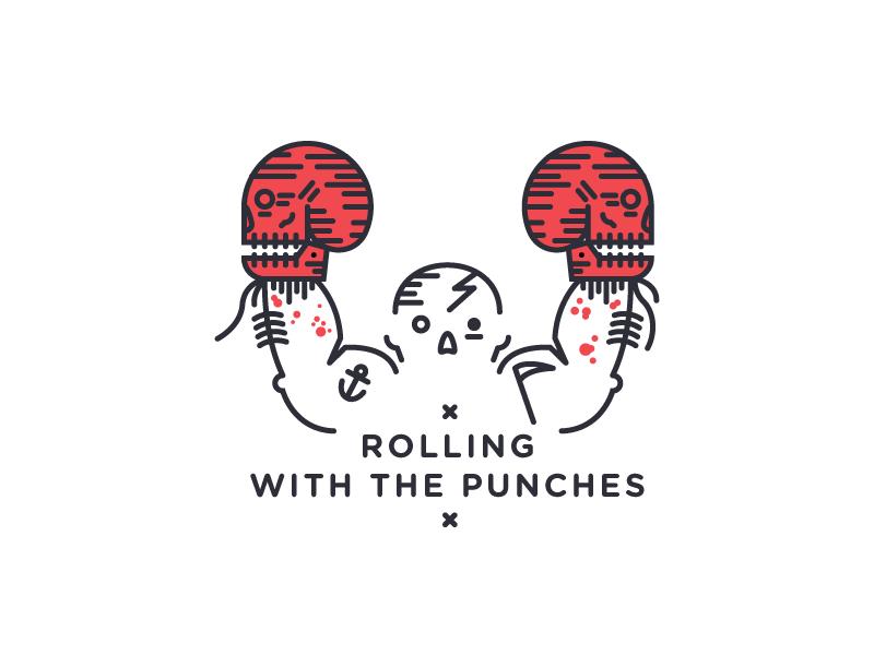 True champion death eye black line skull punch champion boxing box