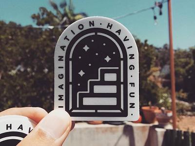 Imagination Having Fun fun imagination stars stickermule portal illustration sticker