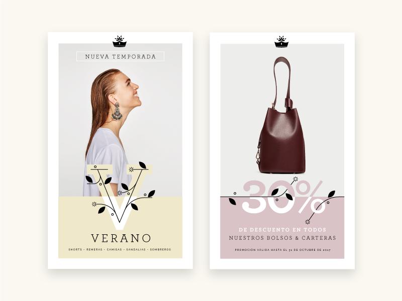 Reina Margarita layout apparel logo banner fashion brand branding poster