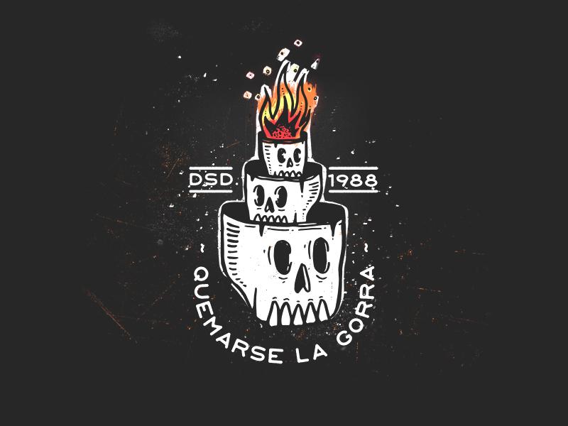 Overthinking dark black feeling think dead death flames fire quote badge skull overthinking