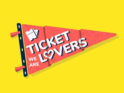 Pennant Sticker illustration fan show ticket flag sticker pennant