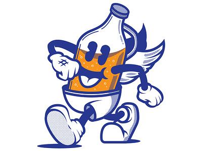 Happy Growler beer branding vintage cartoon beer growler character concept character illustration