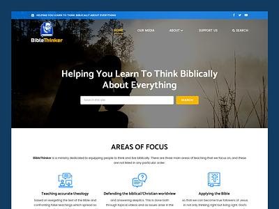 Bible Thinker // Web Design christian christianity bible christianity web design bible study web design church ministry web design