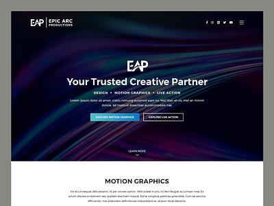 Epic Arc Productions // Web Design creative agency live action motion graphics video production video editing video production web design video editing web design