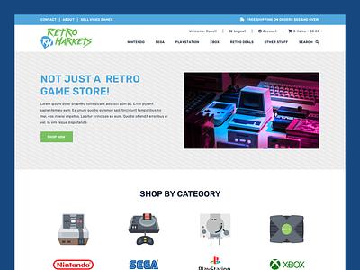 Retro Markets // Web Design retro game online store ecommerce retro web design game web design online store web design ecommerce web design