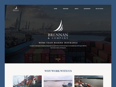 Brennan & Company // Web Design insurance marine insurance insurance web design marine insurance web design