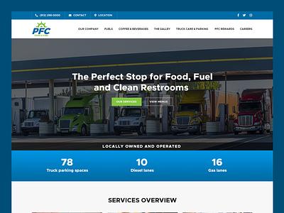 Port Fuel Center // Web Design fuel  food center truck rest area fuel center truck rest area web design fuel center web design service company web design