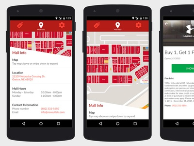 NEX Outlets for Android maps nexus malls android material design apps mall app