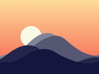 Mountain Sunset sunset mountains