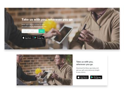 App Promo Exploration homepage app promotion web download the app