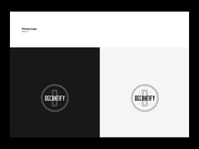 DeCantify Logo ui design logo app website food wine branding