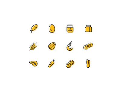 Ingredient Icons nutritional ingredients food icons
