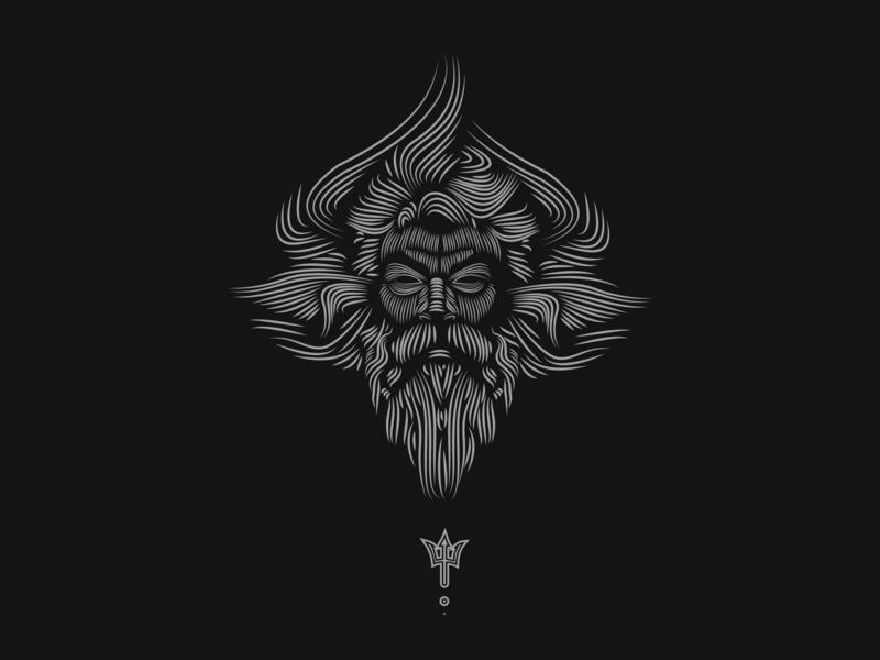 Neptune vector art illustration