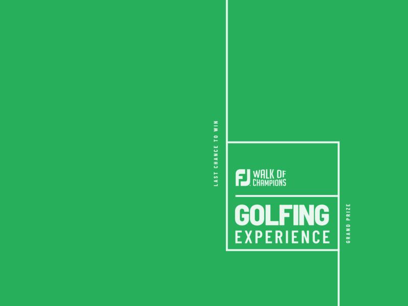 FJ Golfing Experience design typography logo branding golf