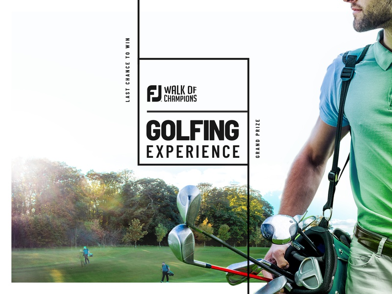 FJ Golfing Experience sports design branding golf