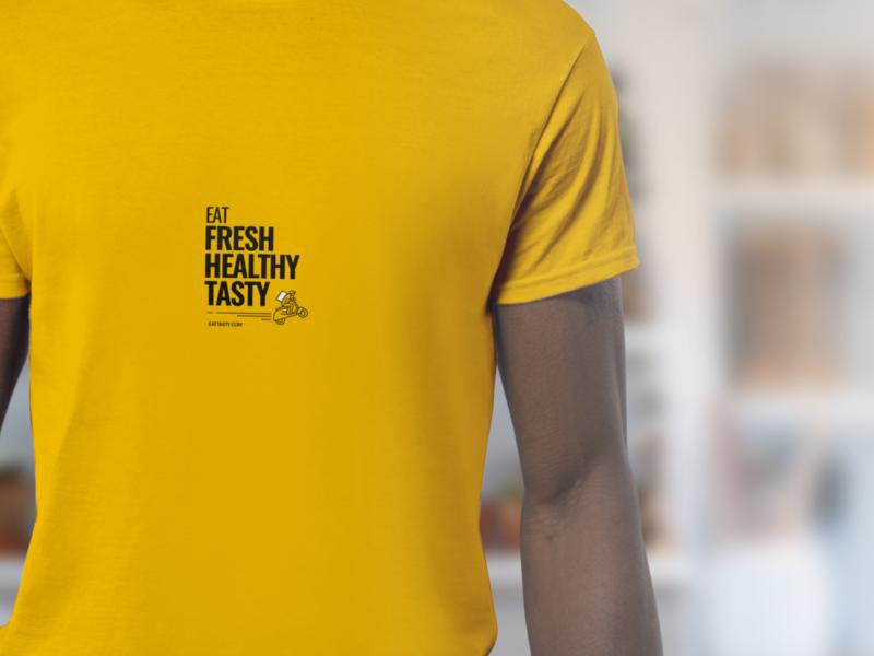 EatT - Driver Gear Concept mockup typography design delivery illustration food branding