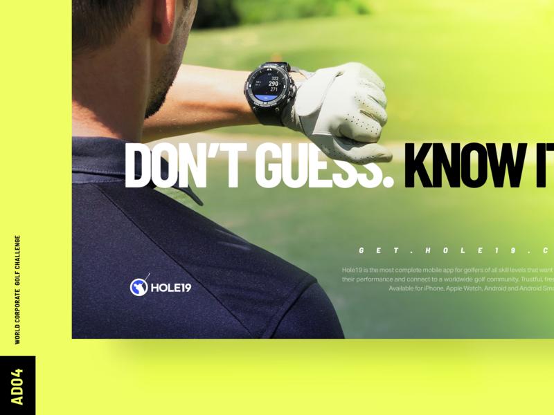 WCGChallenge '19 AD04 golf sports app branding