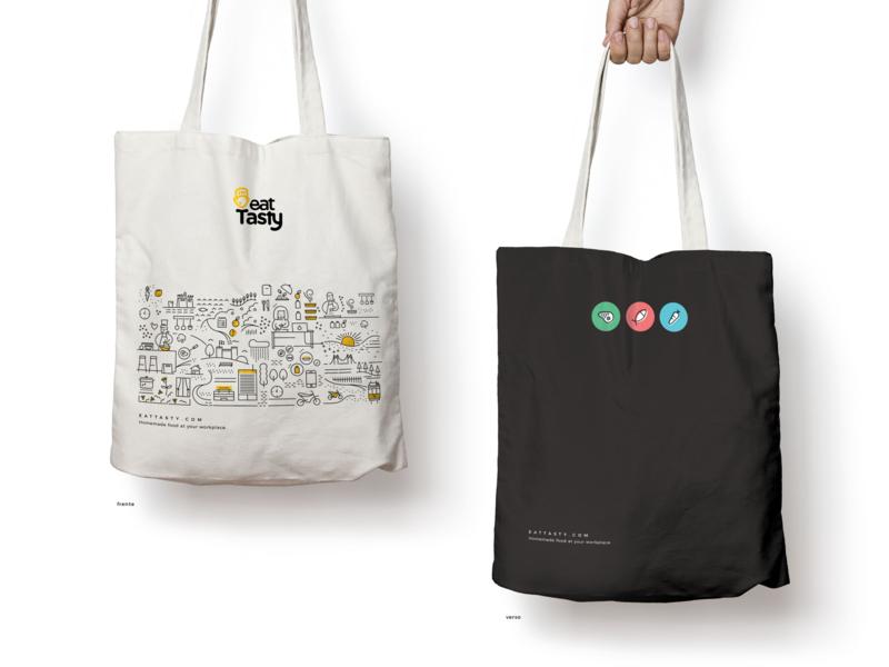 EatTasty Bag illustration branding