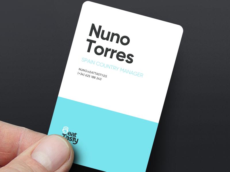 EatTasty Business Cards business cards illustration branding