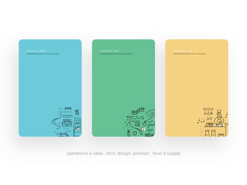 EatTasty Business Cards business card branding illustration