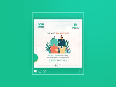 Social Media Design - Recruitment Poster facebook posters fb designs banner design social media designs social media post social media poster branding branding design poster design poster graphic design design